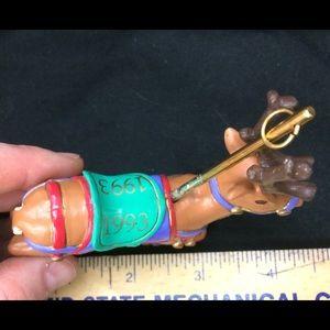 American Greetings Holiday - American Greetings Carousel Reindeer Ornament 1993